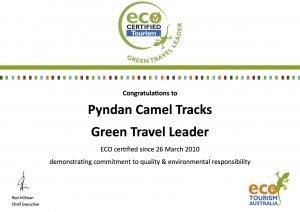 display green travel leader certificate